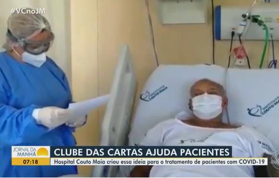 Rede Bahia faz matéria sobre o Clube das Cartas dos pacientes do ICOM